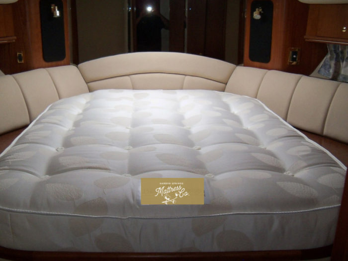 custom sized boat mattress made by Harbor Springs Mattress Company