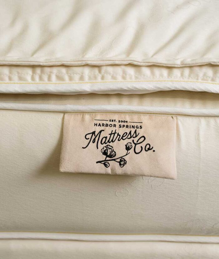 close_up_of_french_tufted_mattress_from_Harbor_springs_mattress_co